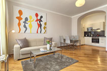 Executive one bedroom Prague apartment for rent
